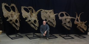 Gaston and ceratops heads
